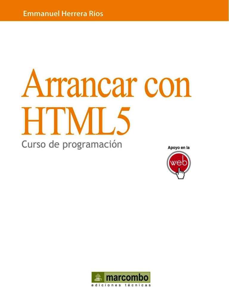Arrancar con HTML5: Curso de programación – Emmanuel Herrera Ríos