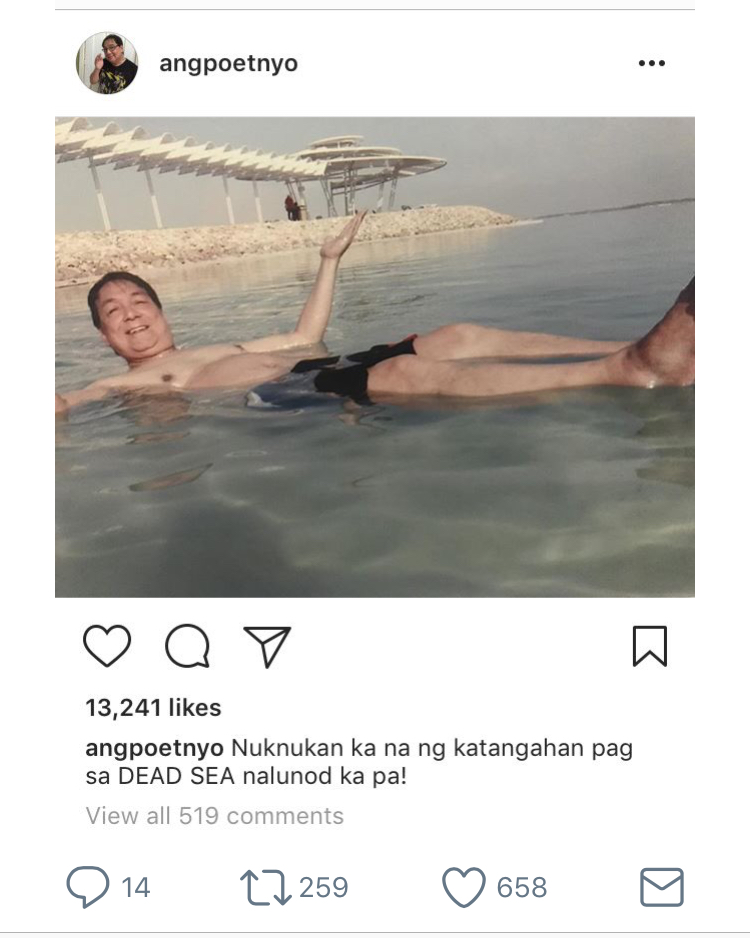 "Joey de Leon draws flak after ""insensitive"" drowning post"