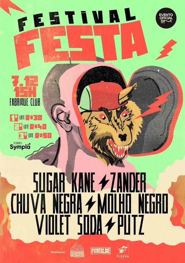 Powerline, Flecha Discos e Forever Vacation unem bandas no Festival Festa, neste sábado