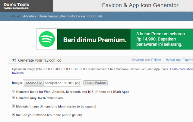 membuat favicon blog