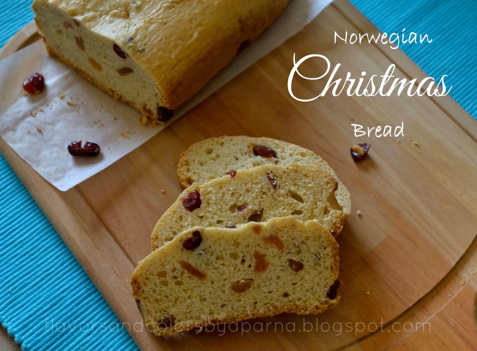 Julekake - Norwegian Christmas Bread ~ Flavors N Colors