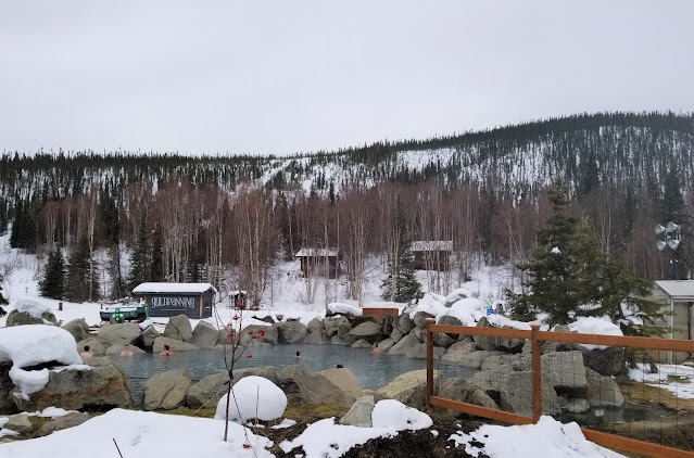 View of Outdoor Rock Pool at Chena Hot Springs