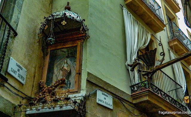 Dragões do Bairro Gótico de Barcelona