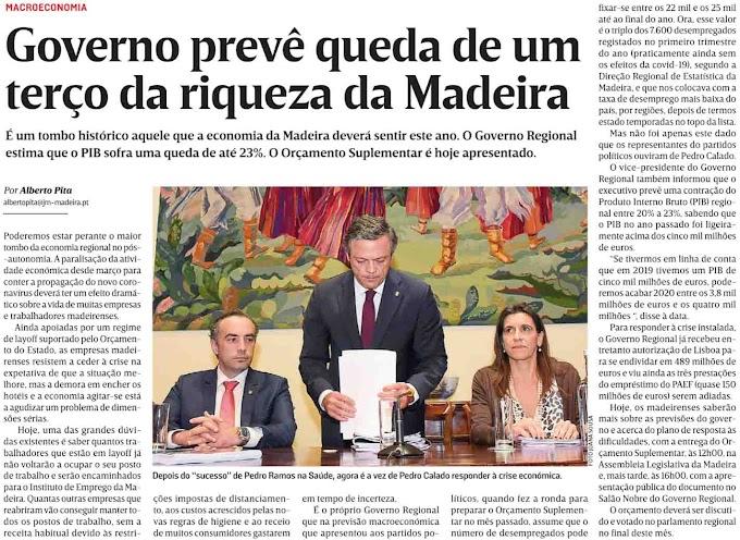 A riqueza vai cair um terço? Não deve ser da maioria dos madeirenses!