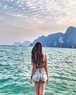 Foto tumblr de espalda en el mar