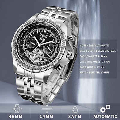 Mechanical Automatic Stainless Steel Waterproof Watch for Men