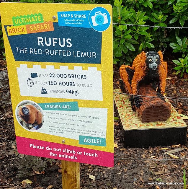 Knowsley Ultimate Brick Safari Rufus the red ruffed Lemur