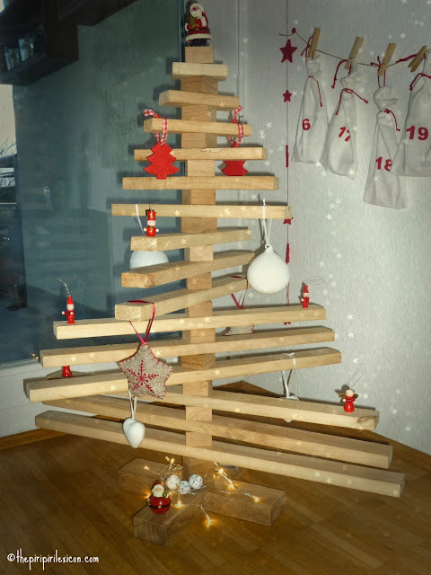 Upcycled wood as a Christmas tree