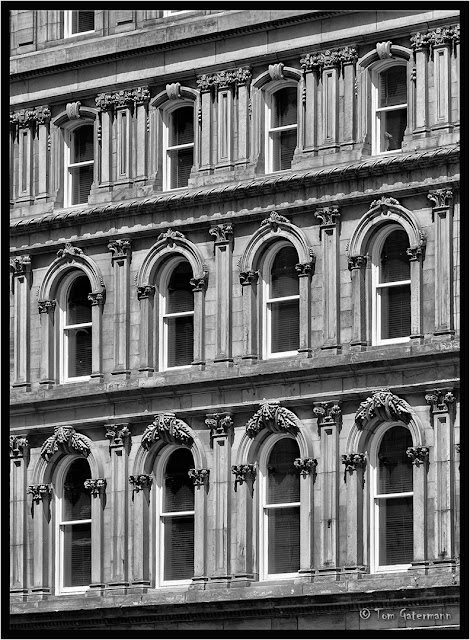 Windows on the Hôtel Place D'Armes in Montreal