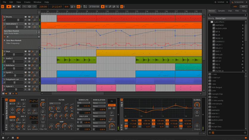 Bitwig Studio DAW for Linux