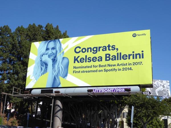 Congrats Kelsea Ballerini Spotify Grammys billboard