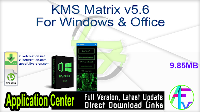 KMS Matrix v5.6 For Windows & Office
