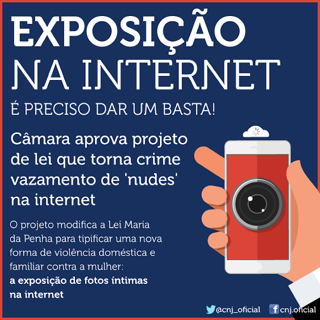 Projeto da Câmara dos Deputados tipifica o crime de exposição de fotos íntimas na internet