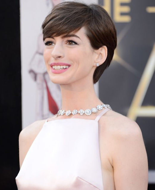 Anne Hathaway Short Hair: Glamour Begins At Home: February 2013