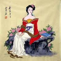 seni lukis yang dibuat dari tinta khusus dan dipajang di dalam istana kerajaan