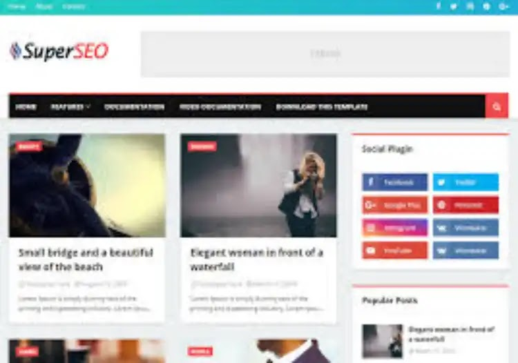 Top 10 SEO Ready Responsive Blogger Templates 2019