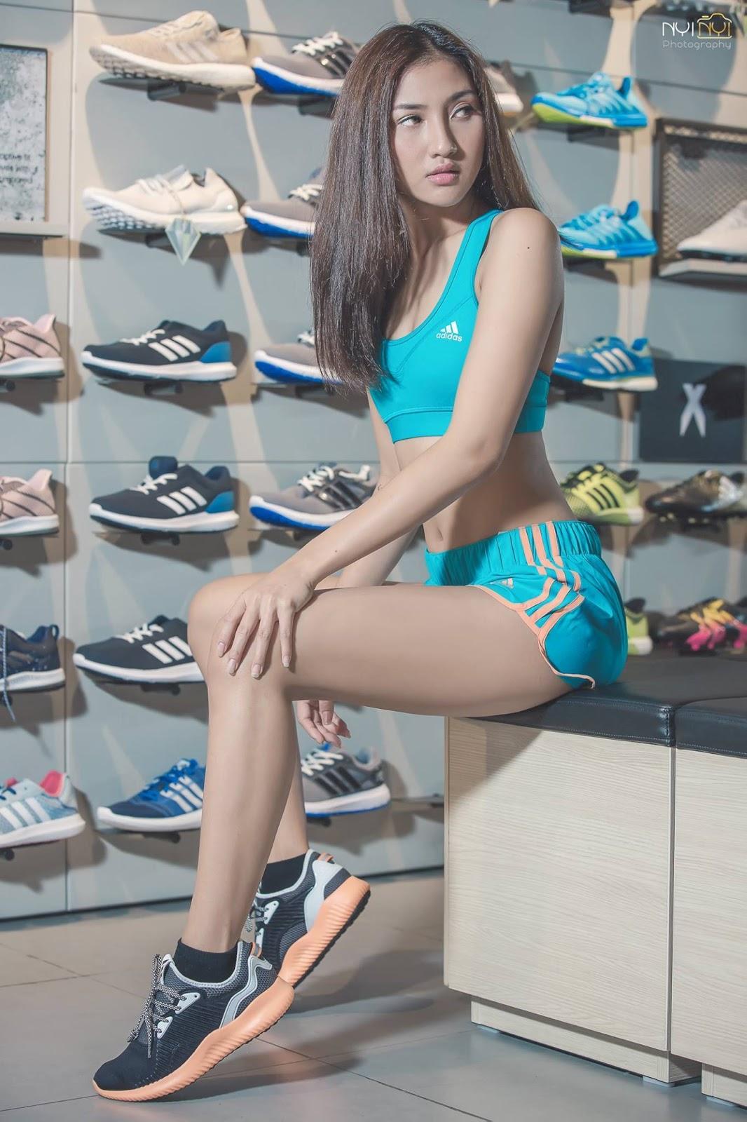 M Seng Lu Adidas Sports Fashion Outfit Photoshoot