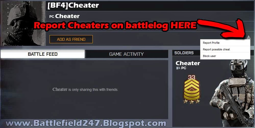 How to Report Cheaters on Battlefield 4 Profile