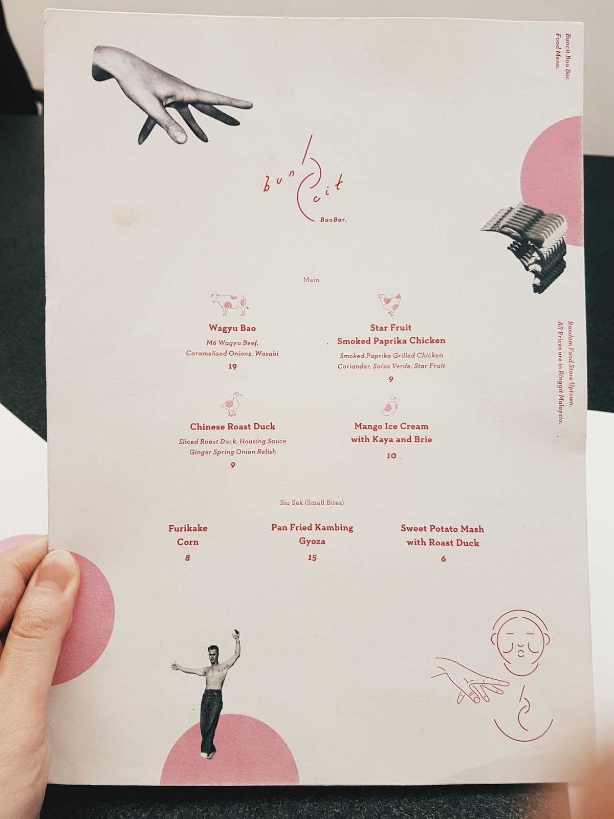 menu and prices