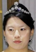 diamond necklace tiara princess takamado japan ayako