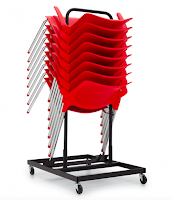 stream chairs on dolly