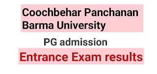 Coochbehar Panchanan Barma University(2019-2020) PG Entrance results