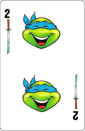 Baraja infantil Las Tortugas Ninja Fournier Carta Leonardo 2