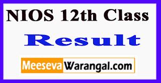 NIOS 12th Class Result 2017