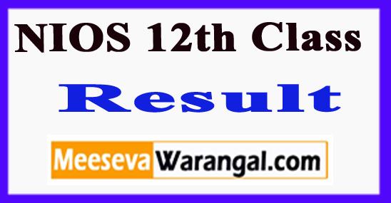 NIOS 12th Class Result 2019