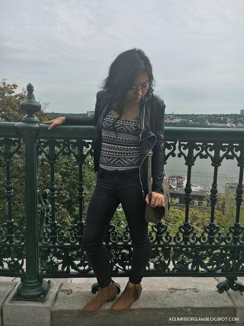 OOTD Fall Inspo Black Zippered Jacket - Andrea Tiffany A Glimpse of Glam