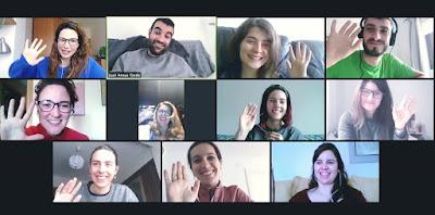 Socios trabajadores de AISSE Soc. Coop. reunidos por videollamada