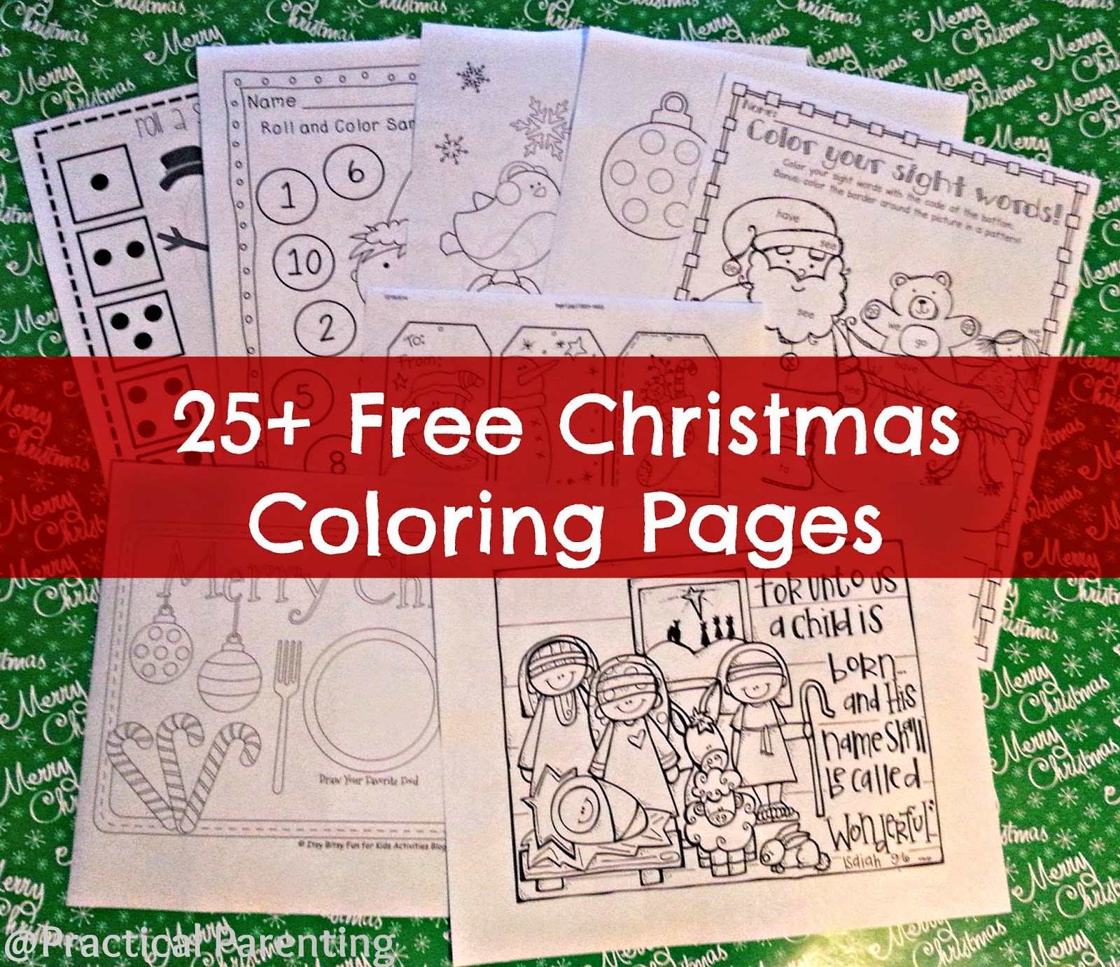 Practical Parenting Ideas 25 Free Christmas Coloring Pages