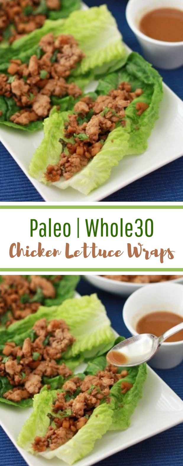 Chicken Lettuce Wraps #glutenfree #lowcarb