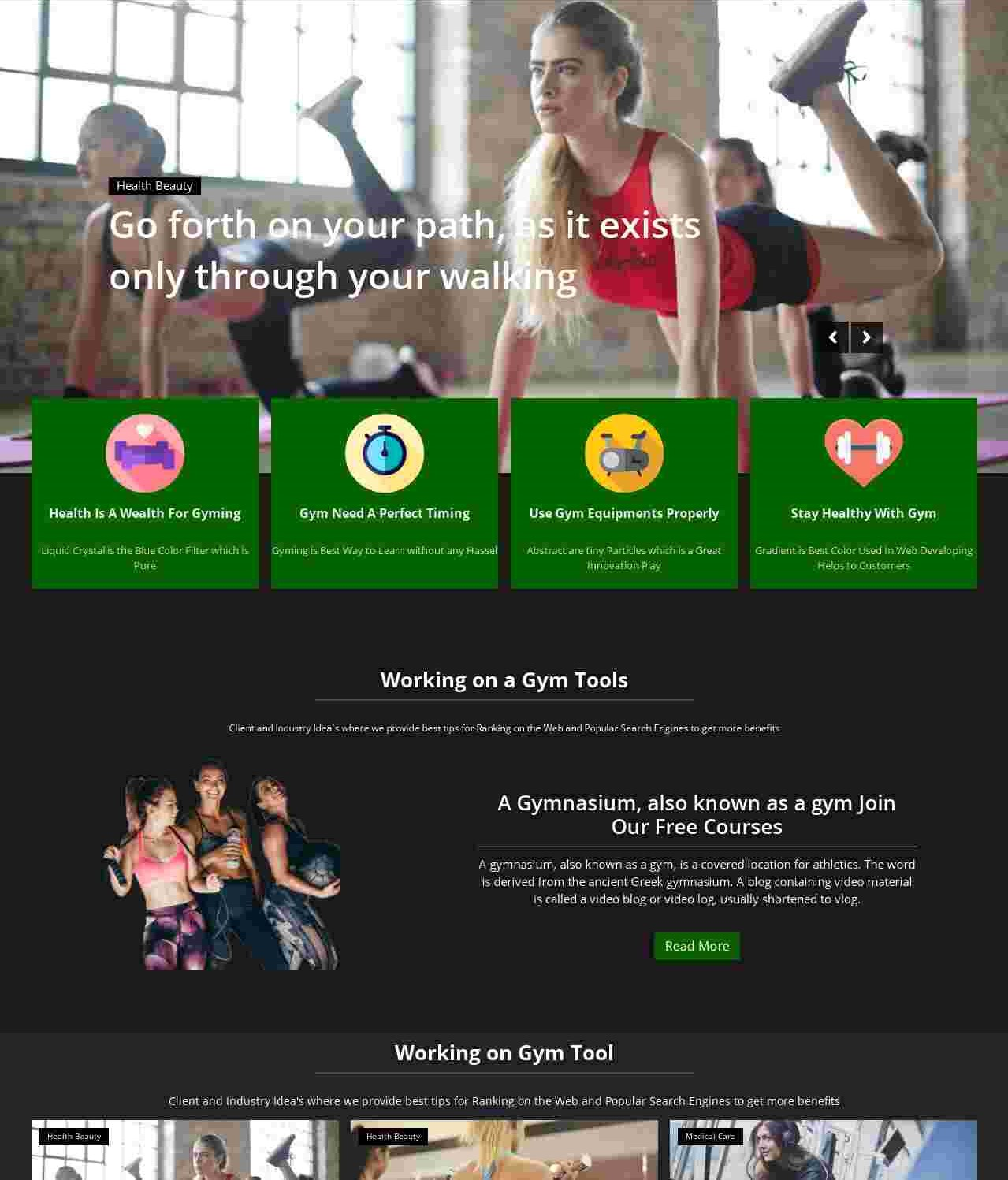 Max Gym  Health And Fitness Blogger Template
