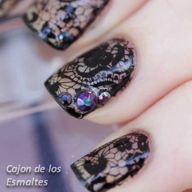 Uñas De Gel Y Piedras Diseño De Uñas Pinterest Uñas