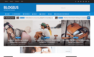Blogius Carousel Blogger Template