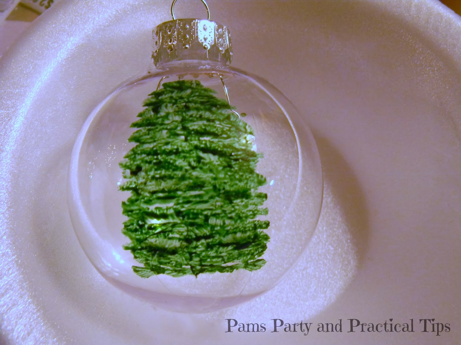Pams Party & Practical Tips: Christmas Tree Ball Ornament