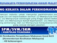 KEMENTERIAN KESIHATAN MALAYSIA (KKM) SPA - GAJI RM1,352 - RM4,003