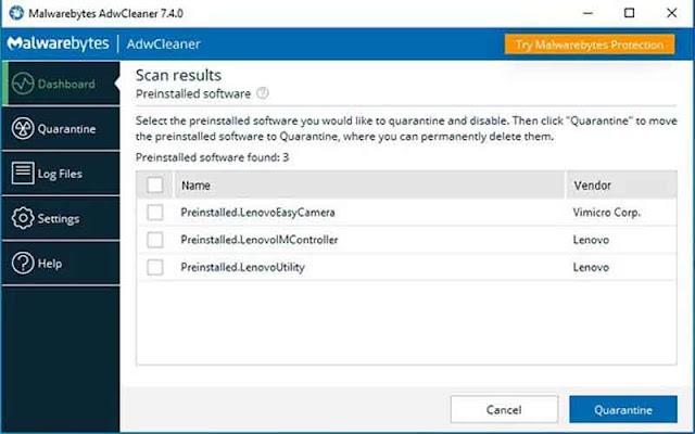 AdwCleaner 7.4 ra mắt, thêm tính năng xóa bloatware khỏi Windows