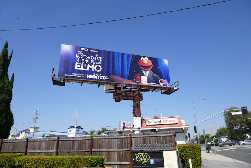 Not-Too-Late Show Elmo HBO Max billboard