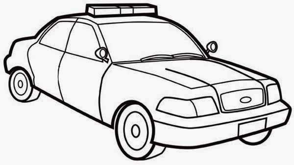 Disegno Di Una Macchina Della Polizia Da Colorare