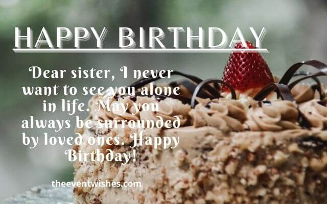happy birthday image photo for sister