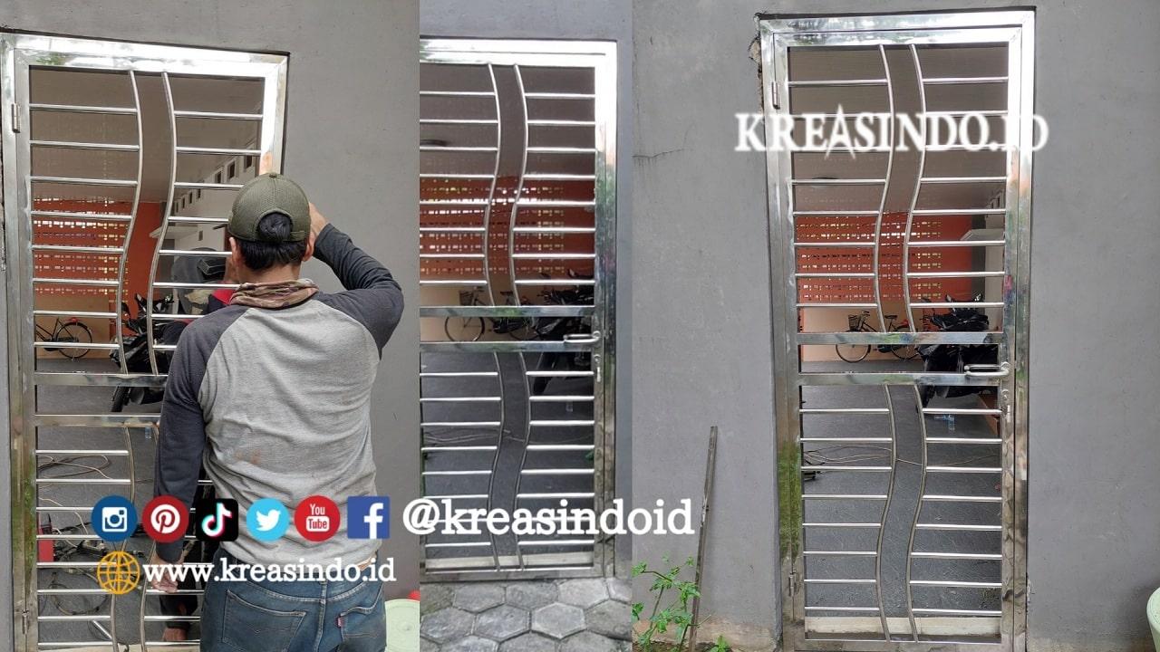 Pintu Kawat Nyamuk Stainless Pesanan Bpk Sumaryono di Pemata Regency Depok