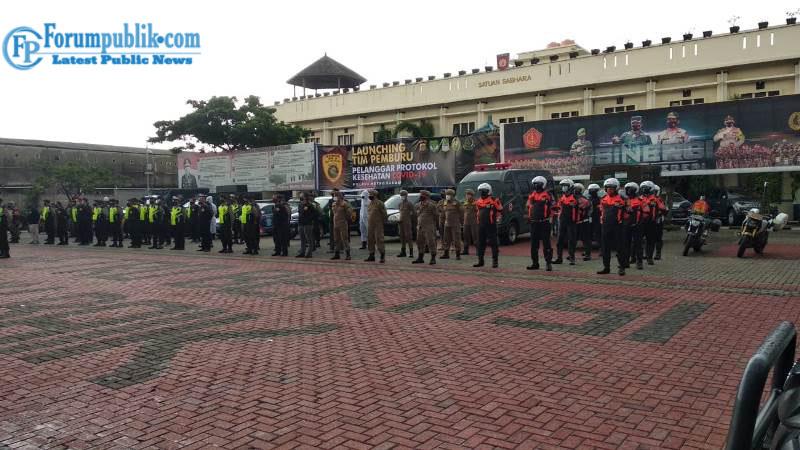 Polres Metro Bekasi Launching Tim Pemburu Pelanggar Protkes COVID-19