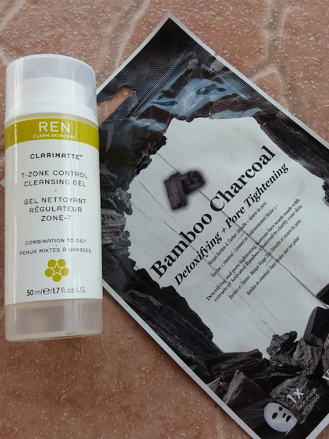 REN Clarimatte Cleansing Gel and Vitamasques Bamboo Charcoal Mask - www.modenmakeup.com