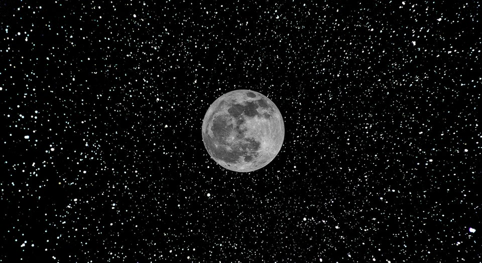 Ever wonder what the moon would look like with stars behind it?