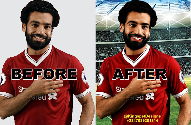 Photoshop Tutorial - Smudge Painting Photo Effect - Mohamed Salah by KingspetDesigns