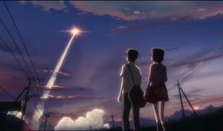 Peluncuran pesawat ulang alik di film anime 5 Centimeters per Second