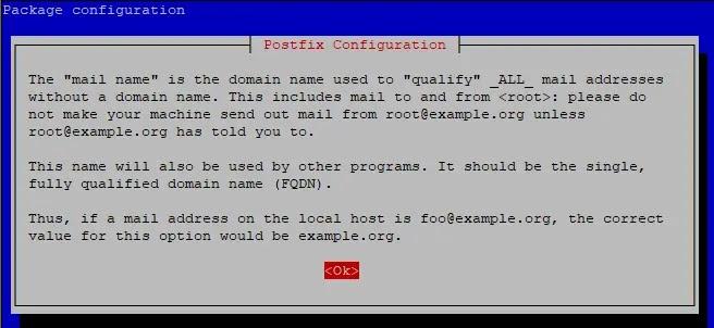 message postfix
