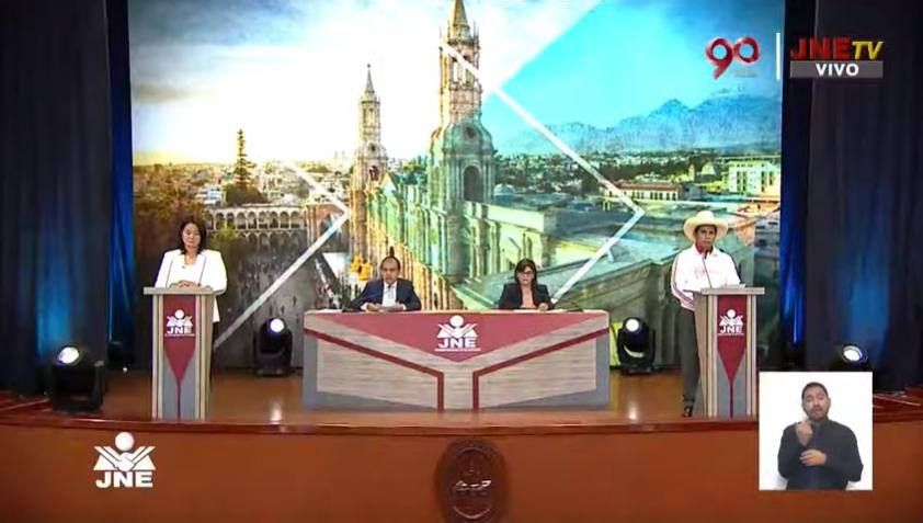Último debate presidencial en Perú organizado por la Junta Nacional Electoral / CAPTURA JNE TV